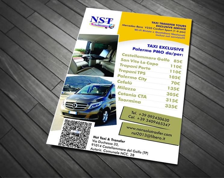Volantino per Servizio Taxi