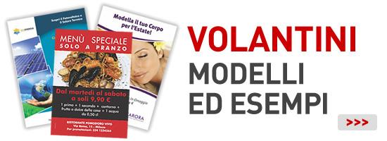 esempi di volantini pubblicitari modelli