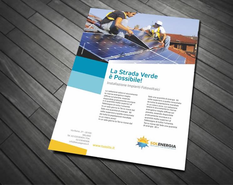 Volantino per Installazione Impianti Fotovoltaici